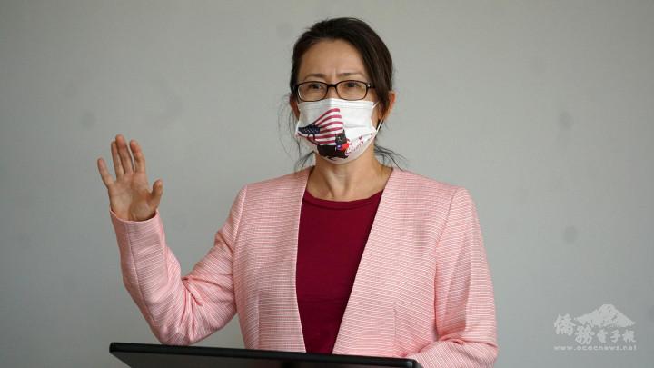 臺灣駐美代表蕭美琴致詞。