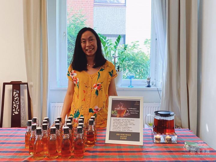 9月5日特別講座來賓「Leafhopper® Tee」創辦人洪慧玲,分享創業經驗。(取自漢堡婦女姊妹會臉書頁)