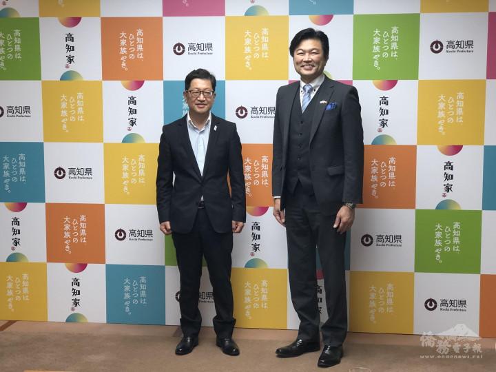 李世丙(右)拜會濱田省司(左)