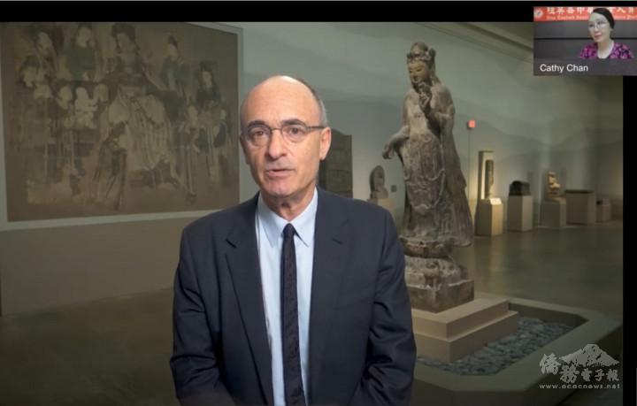 波士頓美術博物館館長Matthew Teitelbaum感謝翁萬戈捐贈,譚嘉陵支持。