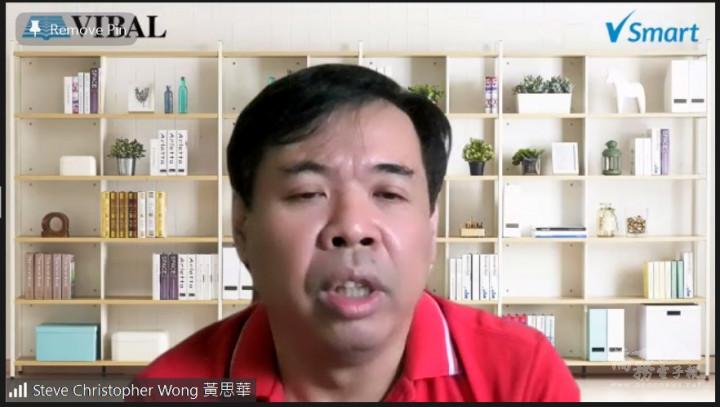 晨光中學黃思華校長介紹僑委會《華語向前走》教材
