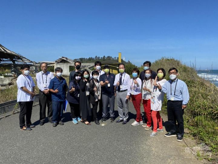 參訪福島核能廠附近之東日本大地震災後區