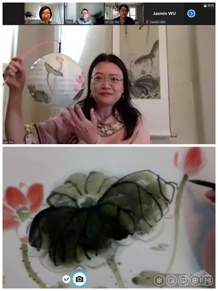 邢台睿擔任「花好月圓彩繪燈籠」活動講師