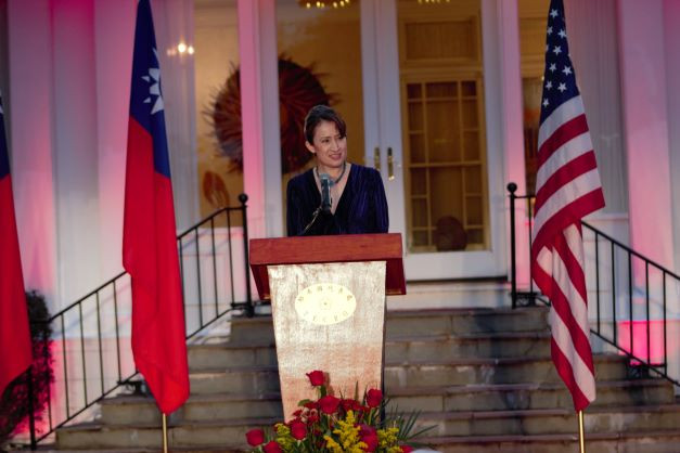 Taiwan's representative to the U.S., Hsiao Bi-khim, hosts this year's National Day reception in Washington