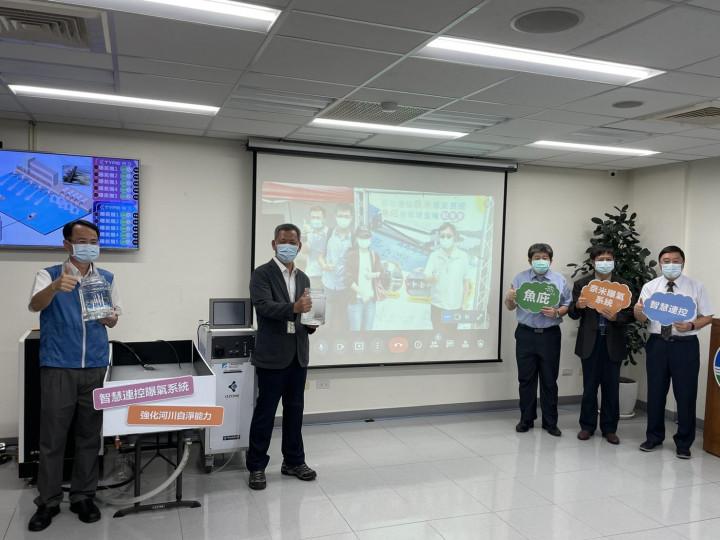 水保處顏旭明處長(左二)、台南水利局詹益欽副局長與工研院大合照