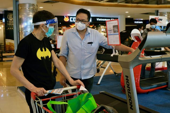 台灣國際專業展7日至9日在雅加達的購物中心展出自行車與健身器材,鎖定印尼中高端的消費人口。