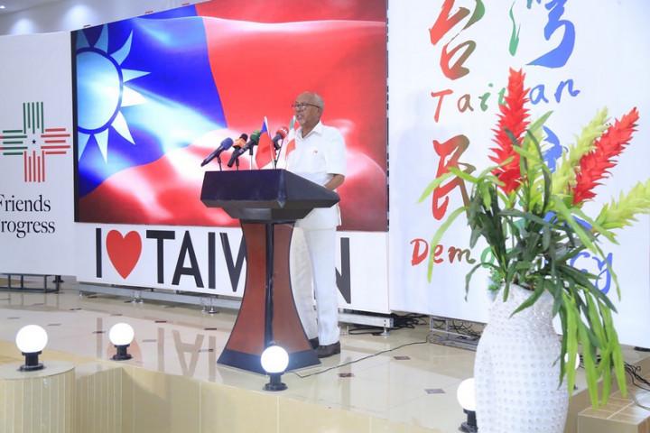 駐索馬利蘭代表處舉辦中華民國110年國慶晚會,冠蓋雲集,多名部長出席。索馬利蘭副總統賽利希(Abdirahman Saylici)致詞。(駐索馬利蘭代表處提供)