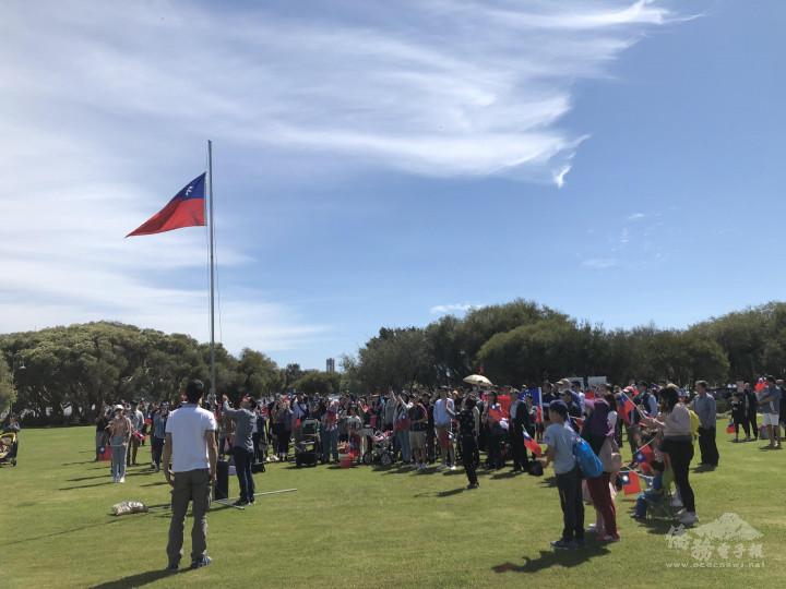 西澳僑胞熱烈參與雙十升旗典禮