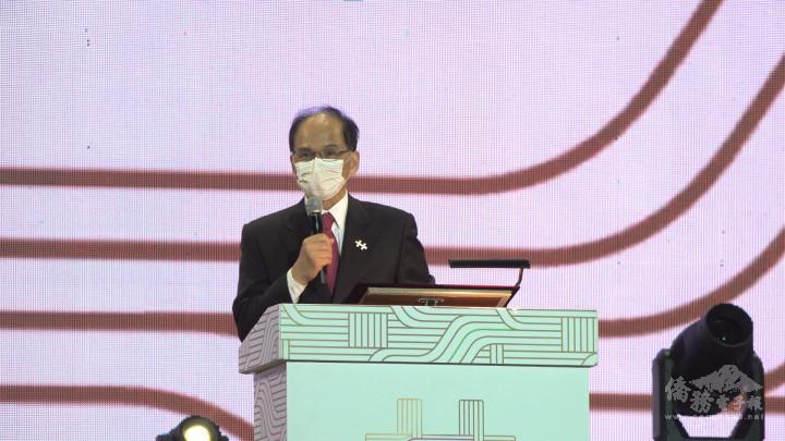 游錫堃表示近兩年來臺灣經濟表現亮眼,美日關係深化,國際社會也用行動來力挺臺灣、加好友