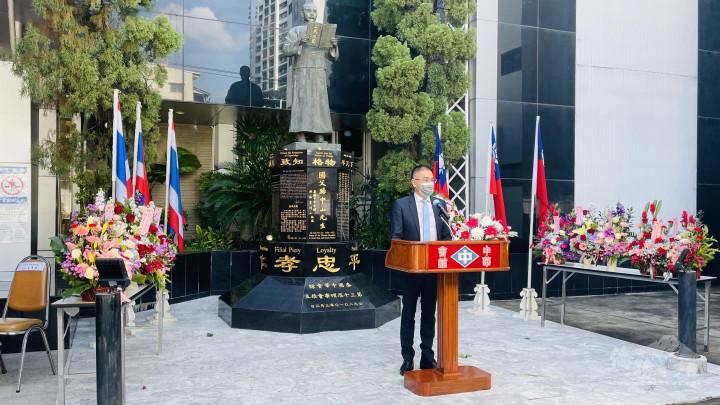 徐蔚民副代表致詞祝賀雙十國慶