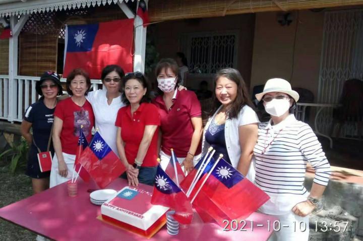 與會貴賓一同慶祝中華民國110歲生日快樂