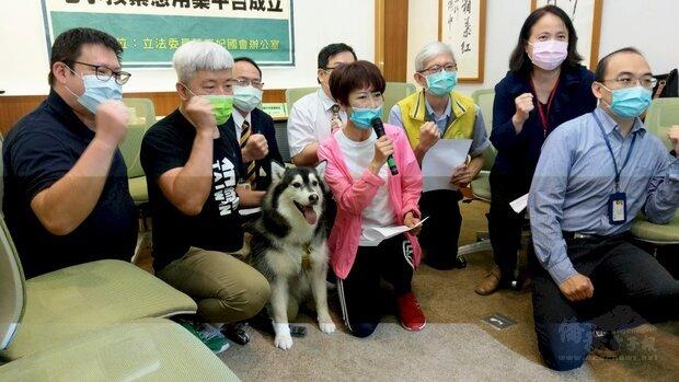 立委陳亭妃催生毛小孩緊急用藥平台,讓獸醫師及飼主能在快速取得緊急用藥。