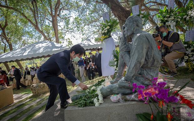 賴清德副總統8日下午前往臺南出席「八田與一技師逝世79周年追思紀念會」