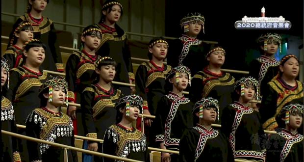 總統府音樂會21日在高雄熱鬧登場。 (直播影片截圖)