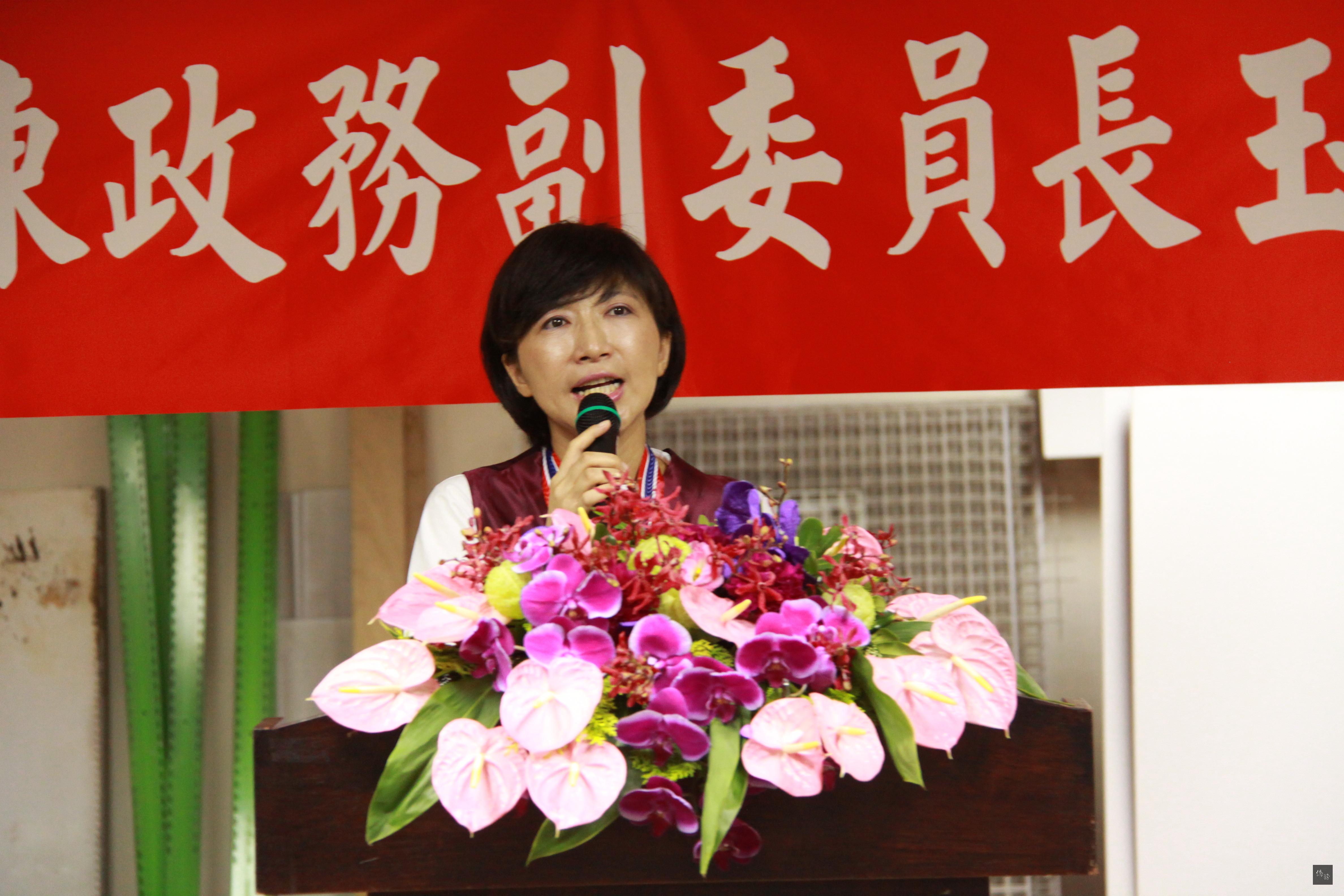 僑委會副委員長陳玉梅感謝大家對她的肯定。