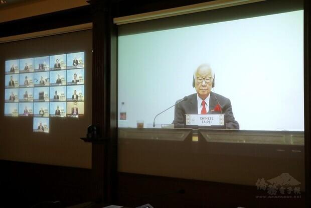 這是APEC自1989年創立以來,首次以視訊方式舉辦的經濟領袖會議,我國領袖代表台積電創辦人張忠謀全程與會