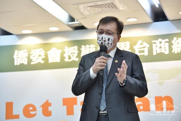 張崇斌表示讓臺灣加入WHO、參加WHA,是臺灣對世界應盡的義務之一。
