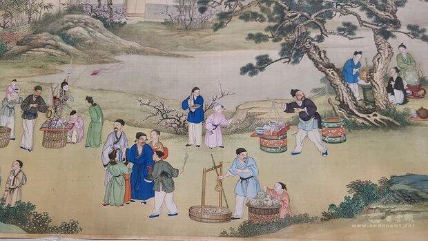 「清丁觀鵬太平春市圖(局部)」,被文化部認定為「重要古物」。