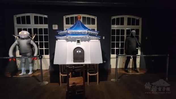 2009年創下當代館觀展人數新高紀錄「派樂地」展覽策展人胡永芬,這回則再現「Parody」以模仿、惡搞、諷刺的藝術創作手法,讓蔣公大戰外星人。