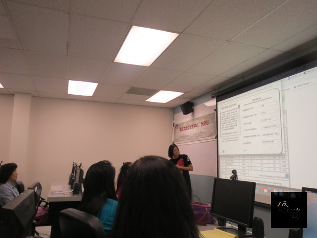 中心示範點數位華語文教學觀摩會-梁甄芸老師「天氣」單元課程及活動設計上課情形。