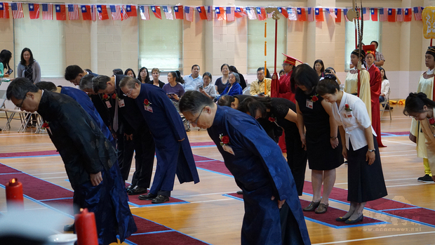 大華府第15屆祭孔大典儀式現場。