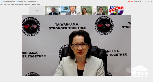駐美代表處大使蕭美琴致詞。