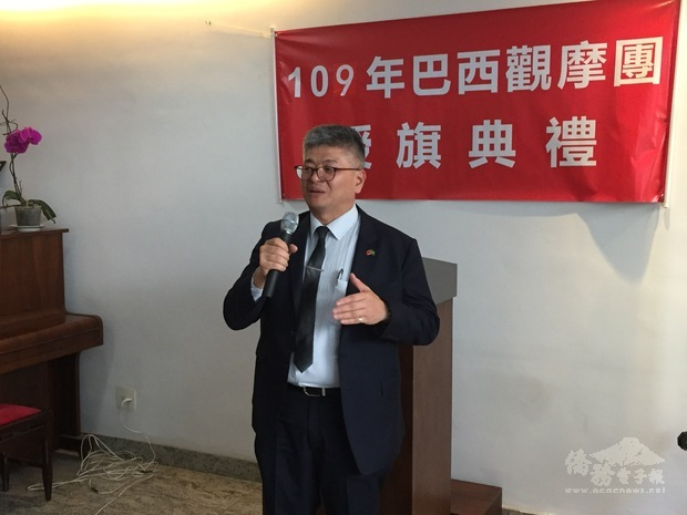 周世鴻勉勵團員們好好學習及珍惜在臺灣的旅程及生活。
