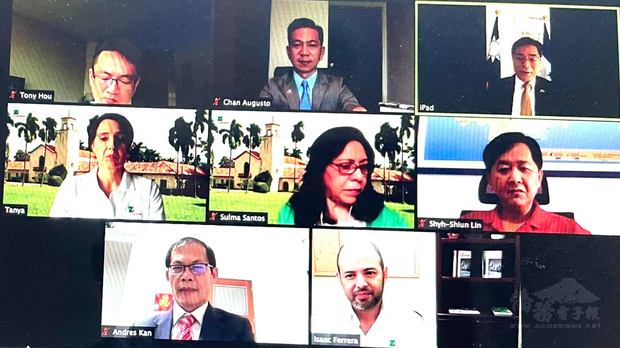 駐宏都拉斯共和國大使館溫大使與Zamorano大學新任校長舉行視訊會議