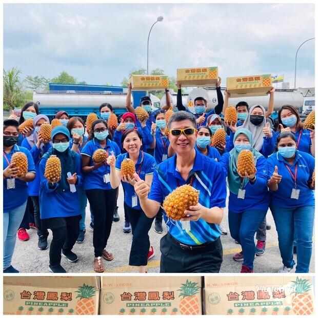 霹靂州臺商一起加入訂購支持臺灣鳳梨的行列