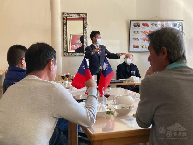 駐開普敦辦事處林映佐處長與開普敦僑務榮譽職人員座談