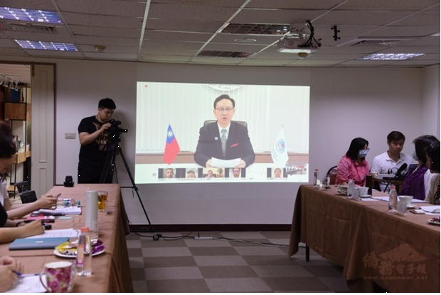 The minister of Overseas Community Affairs Council (OCAC),Chen-yuan Tung, was invited to give an online speech.