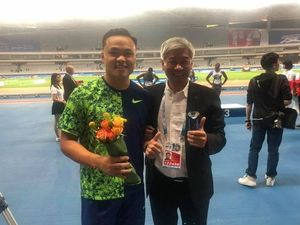 Cheng Chao-tsun (left)/Image taken from Chinese Taipei Athletics Association's Facebook page