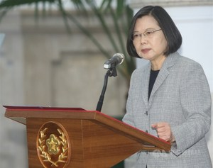 President Tsai Ing-wen announces a NT$1.05 trillion economic relief package on Wednesday./Photo courtesy of CNA