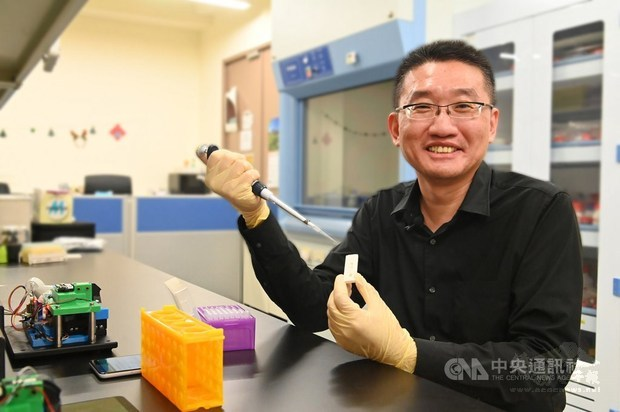 Cheng Chao-min, a professor at the university's Institute of Biomedical Engineering. / Photo courtesy of CNA