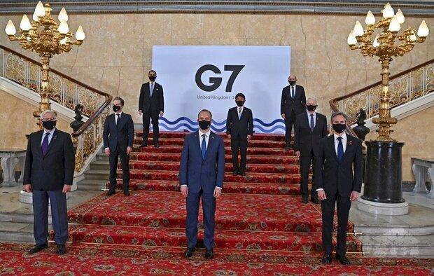 七大工業國集團(G7)外長會議發表公報。